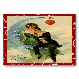 Romantic Vintage Valentine Love Notes Business Card