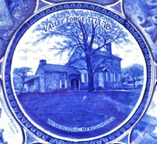 Rowland and Marcellus Valley Forge Souvenir Blue Plate