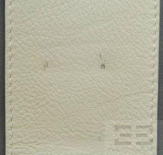 Malo Beige PEBBLED Leather Grey Suede Trim Weekender Bag