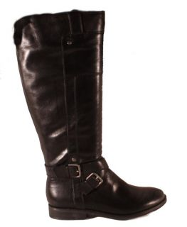Marc Fisher Artful Black Leather Womens Knee High Riding Boots Size 7