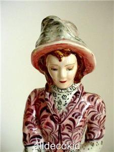 Art Deco RARE Goldscheider Myott Lady Figurine 1930S