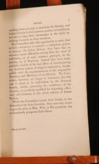C1833 Report of The Committee of The Sunday Schools