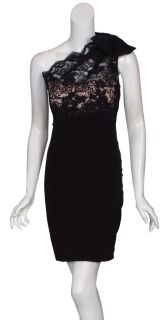 Marchesa Notte Sensational Black Lace Party Dress 10 New