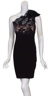 Marchesa Notte Sensational Black Lace Party Dress 10 New