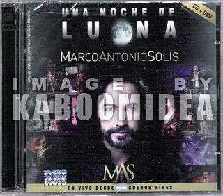 CD + DVD MARCO ANTONIO SOLIS Una Noche De Luna En Vivo Desde Buenos