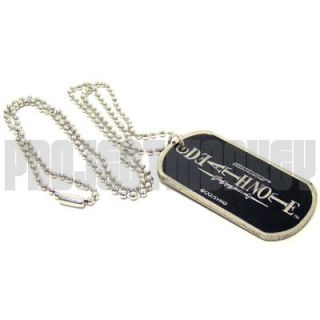 Death Note Dog Tag Ball Chain Necklace Anime Ryuk
