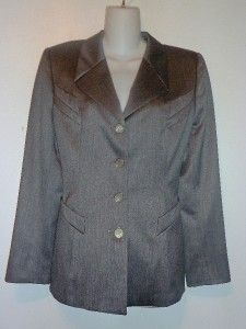 ESCADA MARGARETHA LEY DESIGNER BRUSHED GREY 2 PCE SUIT BLAZER & JACKET