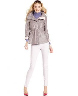 Jessica Simpson Coat, Hooded Cinched Waist Anorak   Womens Coats