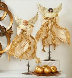 Mariah Carey Set of 2 Handpainted Holiday Angels with Stands