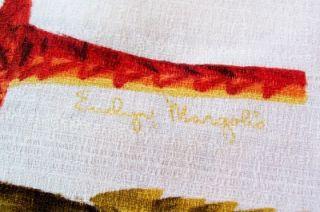RARE Vintage Signed Evelyn Margolis Tiki Gods Hawaiian Shirt