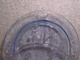 Blue Glass Childs Plate See Saw Margery DAW