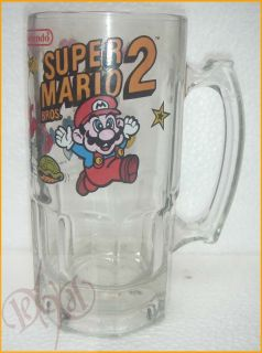 1989 Nintendo Super Mario Brothers 2 Big 32 oz Mug Beer Stein