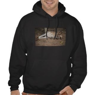 Mama Kangaroo with Joey in Pouch Hooded Sweatshirt