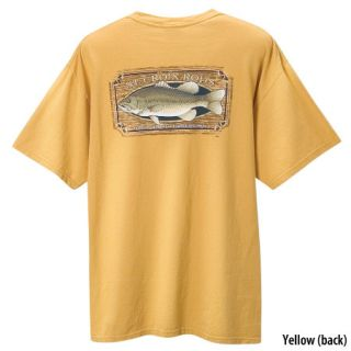St Croix Fishing Rod Short Sleeve Tee T Shirt   Yellow SM Bass   Size