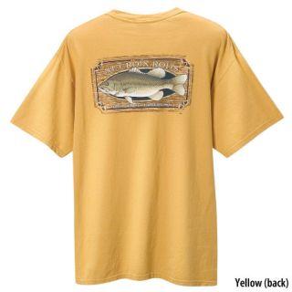 St Croix Fishing Rod Short Sleeve Tee T Shirt   Yellow SM Bass   Size