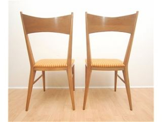 Set of six maple dining chairs by Paul McCobb for Calvin, Grand Rapids