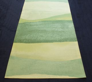 Custom Modern Finnish Marimekko Green Joiku Yoik Table Runner Wall