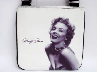 Marilyn Monroe Signature Classic Messenger Cross Body Sling Bag Purse