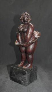 Plump Bronze Casting Female Marilyn Monroe Figurine