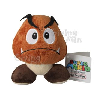 Genuine Super Mario Bros 5 Goomba Plush Figure Doll Toy Nintendo