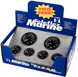 Teleflex Marine Premier Pro Black 6 Gauge Set Fog Free Tel 62715P