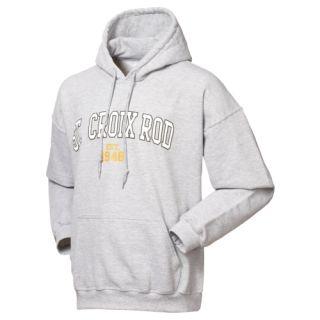 St Croix Fishing Rod Hoodie Hooded Sweatshirt Grey Size XL New