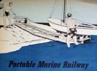 Build Portable Marine Railway Boat Winch Docking Plans