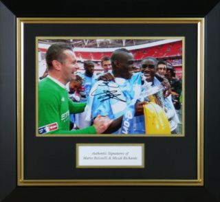 Mario Balotelli and Micah Richards Signed Manchester City FA Cup
