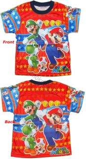 Super Mario Boys Kids T Shirt Age 1 3 Size 1