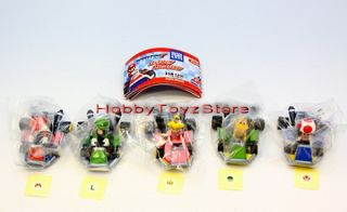 Takara Tomy A R T s Mario Kart 7 Pull Back Car Capsule Toy Full Set of