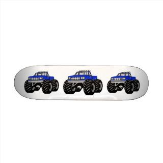 BLUE MONSTER TRUCK CUSTOM SKATEBOARD