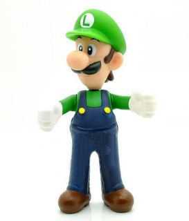 New Super Mario Bros 5 Luigi Action Figure Toy