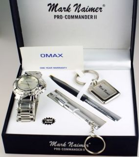 MARK NAIMER Mens WATCH SET with ST/STEEL TORCH   Mark Naimer KEY RING