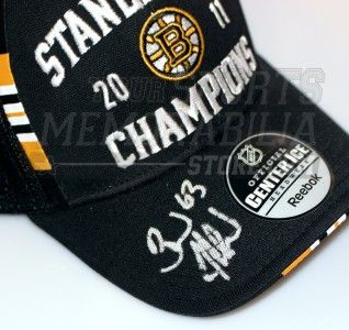 Brad Marchand Boston Bruins Signed Autographed Stanley Cup Locker Room