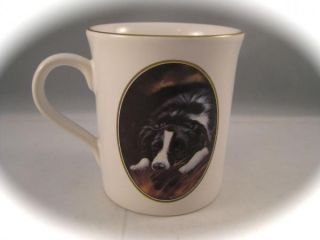 Pickering Collection Border Collie Black & White Coffee Mug England