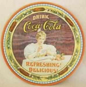 Coca Cola Coke 75th Anniversary Commemerative Tray Hilda Clark