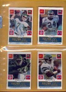 1986 McDonalds New York Jets Blue Tab Complete Set