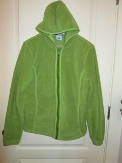 Columbia Womens Green Hoodie Fleece Jacket Size Large Used