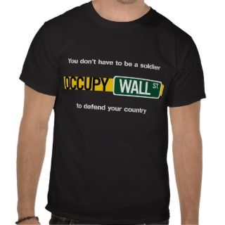 Occupy Wall Street   soldier Tees