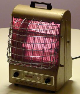Markel Vintage Electric Space Heater Fan Machine Age Deco Style w
