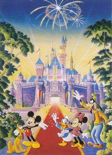 Disney Castle Sleeping Beauty Fab 5 Signed Souders