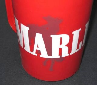 Vintage Red Thermo Serv Marlboro Man Travel Thermal Coffee Mug Cup