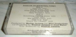 WHITE LABEL PROMO CASSETTE TAPE MARLON JACKSON   BABY TONIGHT DANCE