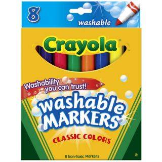Crayola 58 7808 Washable Broad Line Markers Classic 8 Count New