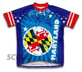 Maryland Cycling Jersey All Sizes Bike