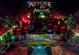 Attack Revenge from Mars Pinball Red Eye Martians Mod RARE