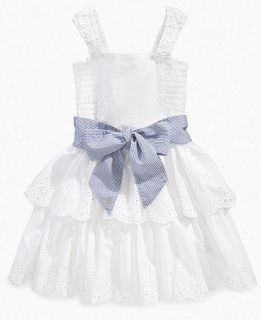 GUESS Girls Dress, Little Girls Eyelet Dress   Kids