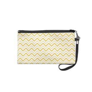 Yellow chevron zigzag stripes zig zag pattern wristlet purses