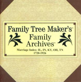 Family Tree Makers Archives Marriage Index #2 PC CD IL IN KY OH TN