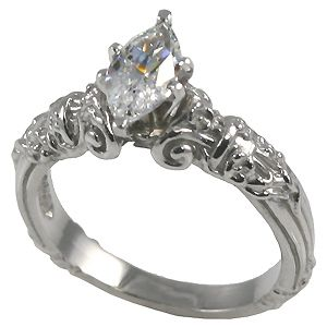 00 carat antique carved marquise diamond solitaire ring d vvs